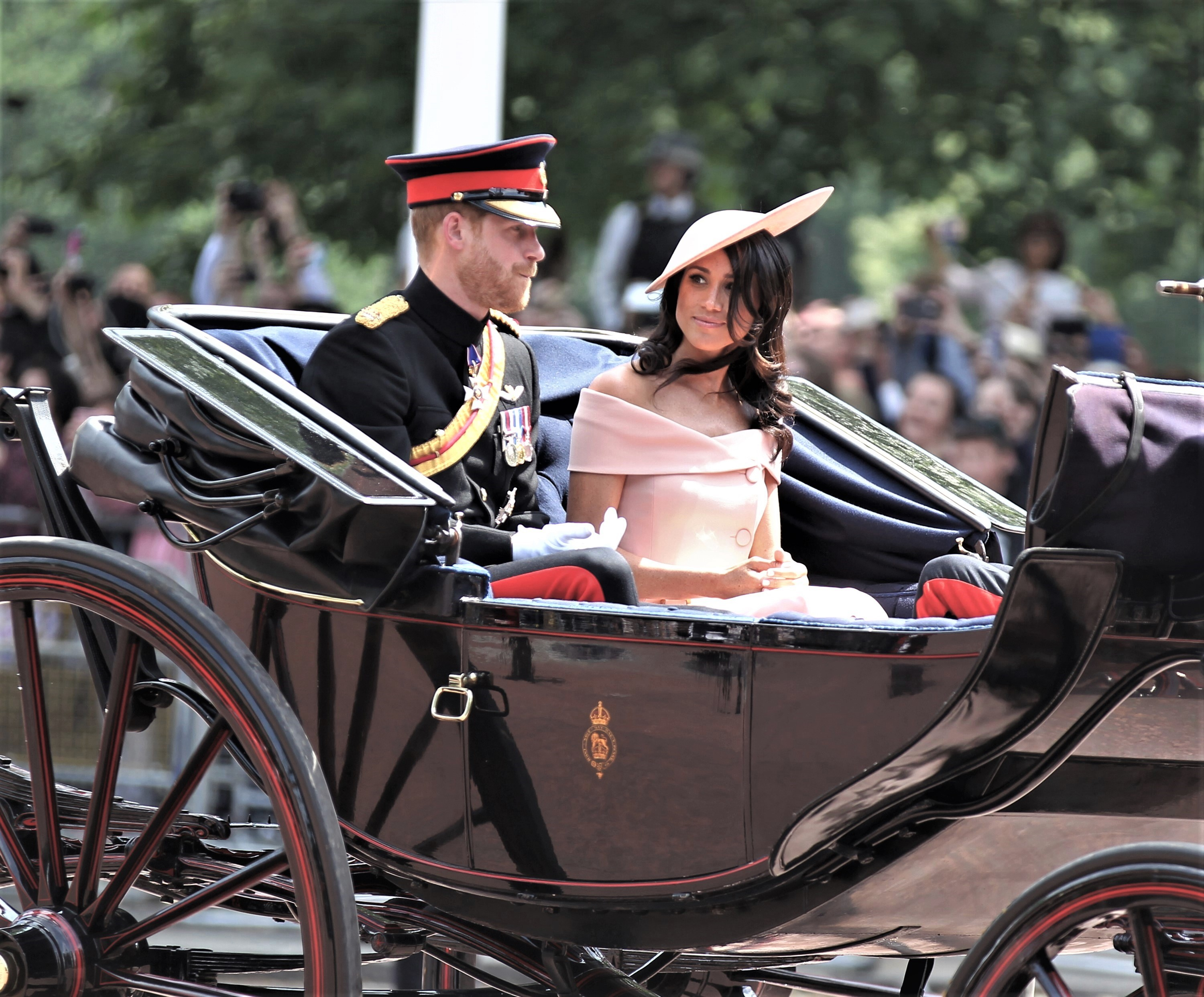 Prince Harry and Meghan Markle Ride In Carriage