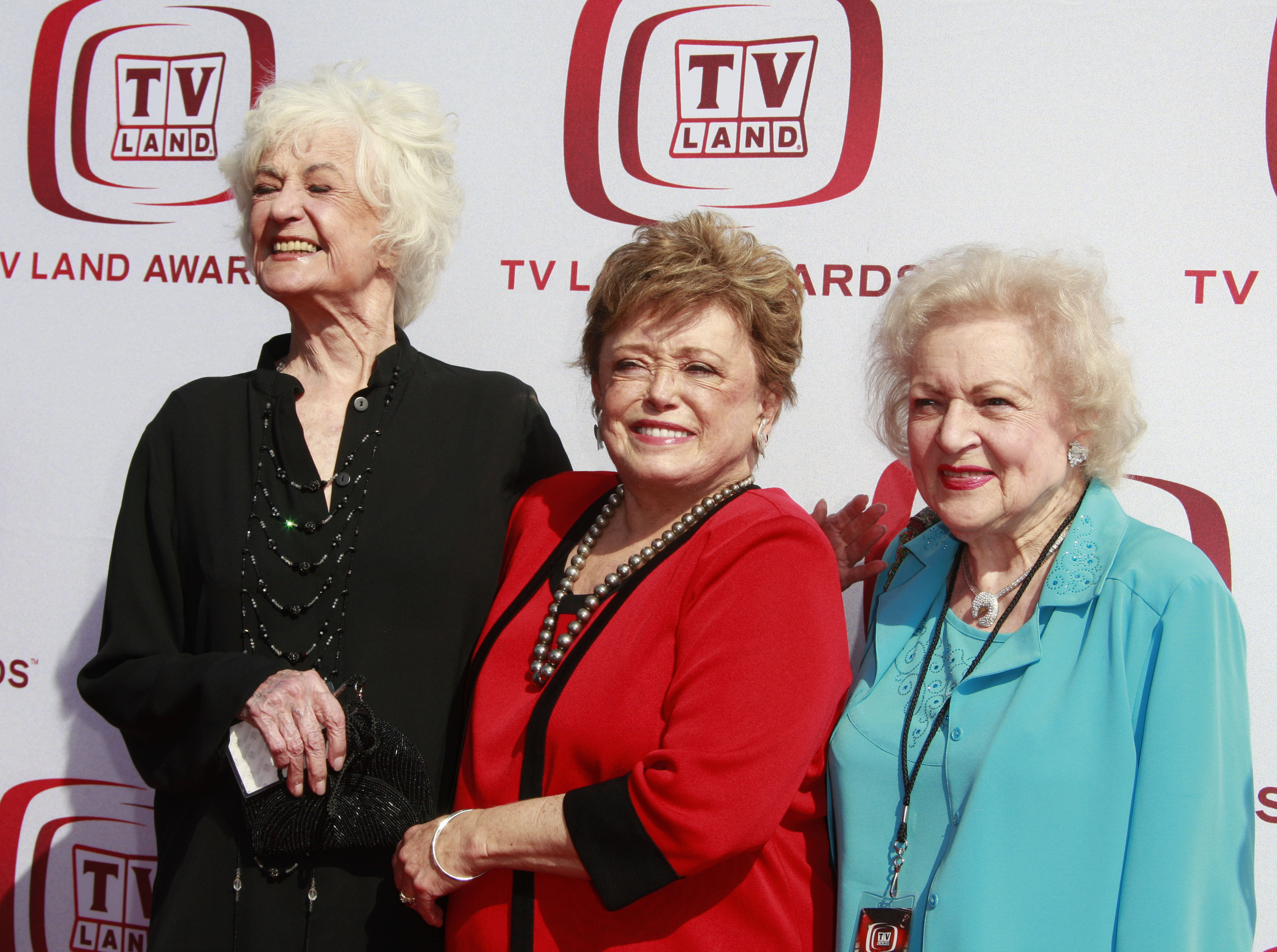 Golden Girls Bea Arthur Rue McClanaghan and Betty White