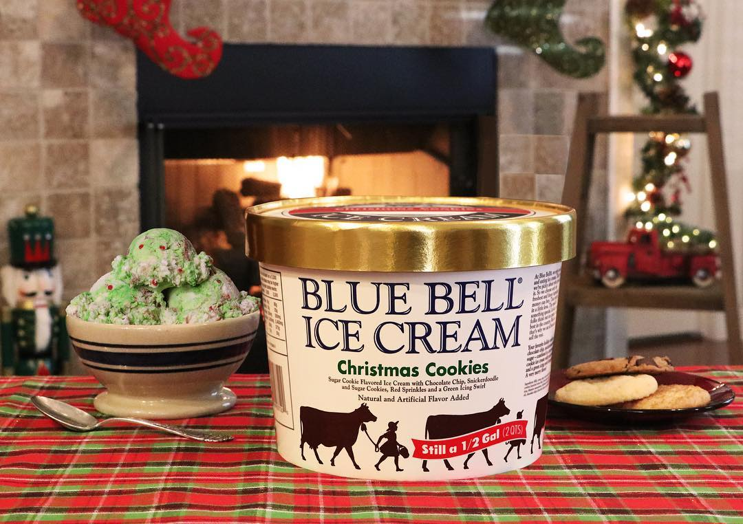Blue Bell Ice Cream Christmas Cookies Flavor