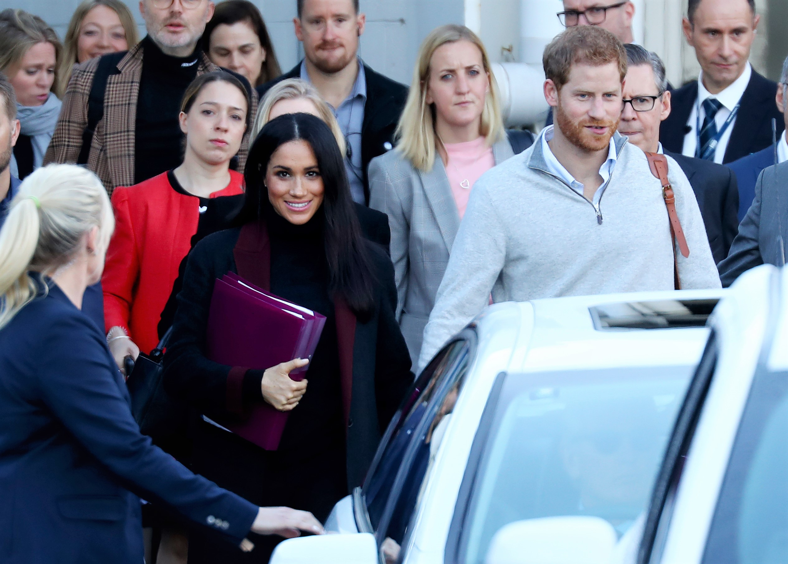 Prince Harry and Meghan Markle Walking