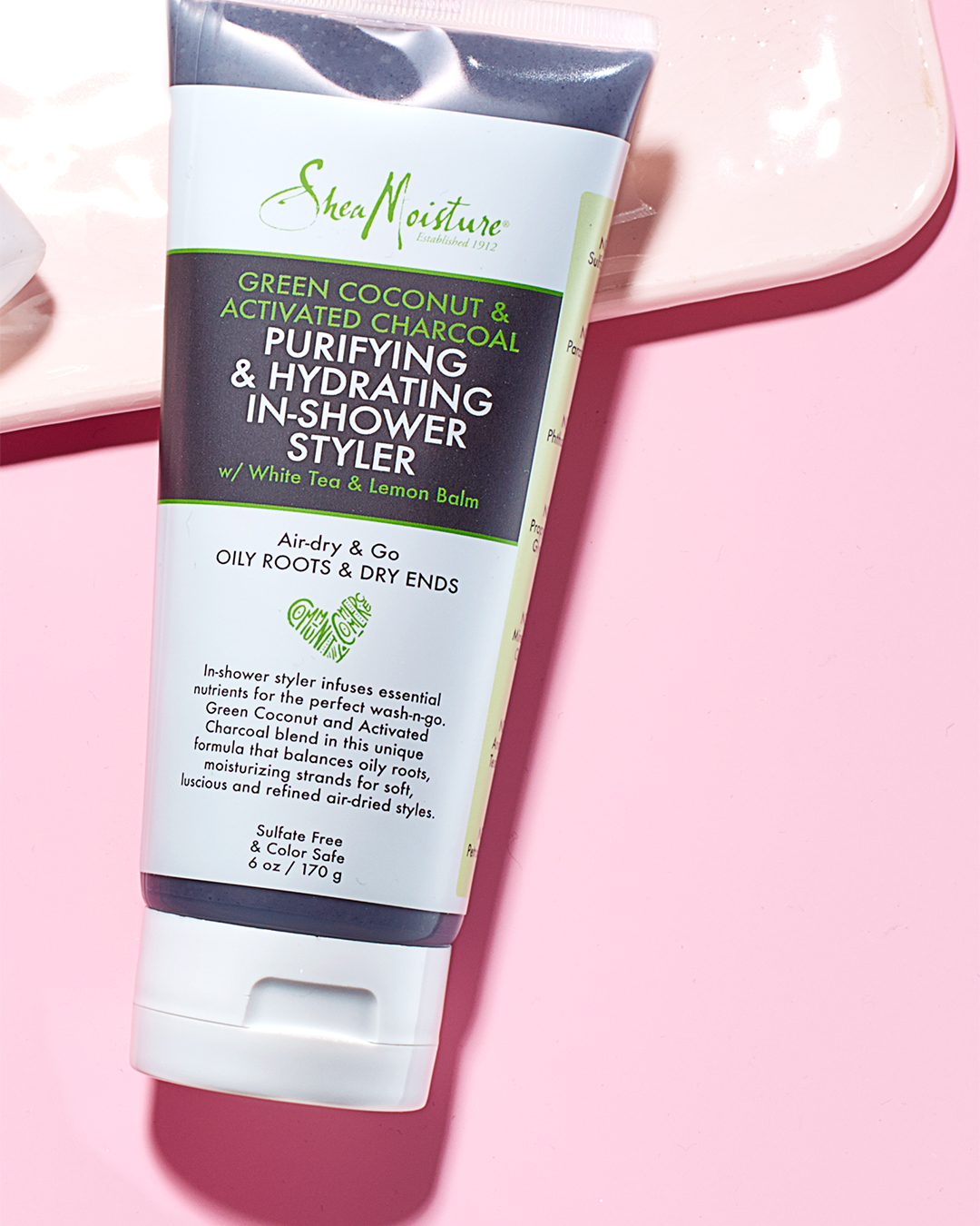 beauty product shea moisture purifying and hydrating in shower styler