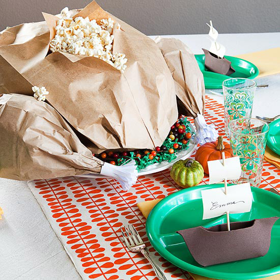 Popcorn Turkey Centerpiece