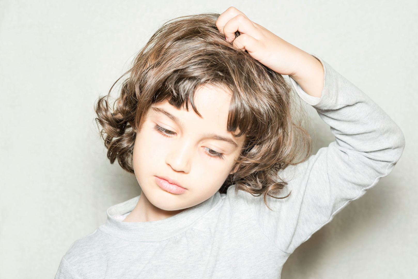 Scratching Head Lice