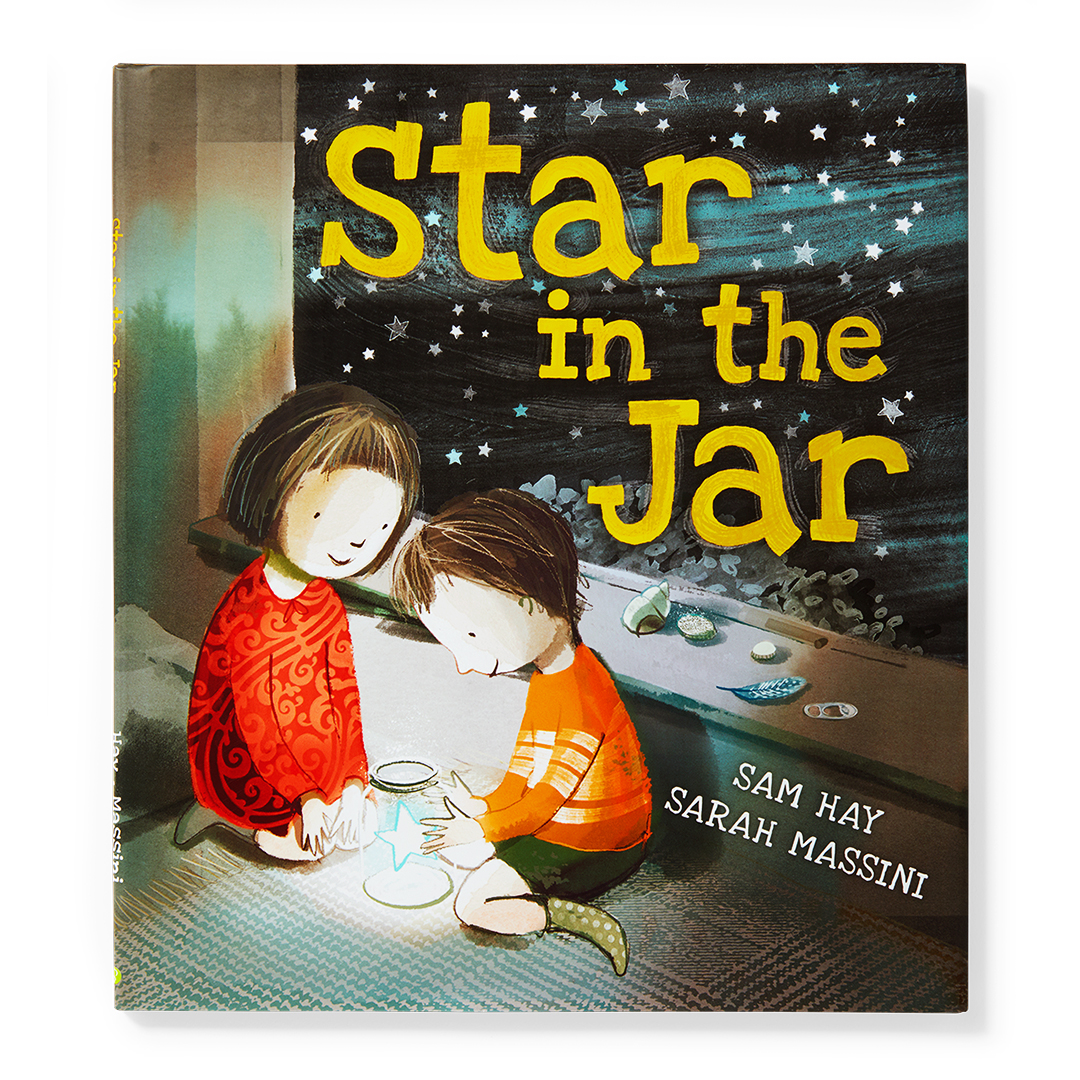 Star in the Jar book with two kids illustration