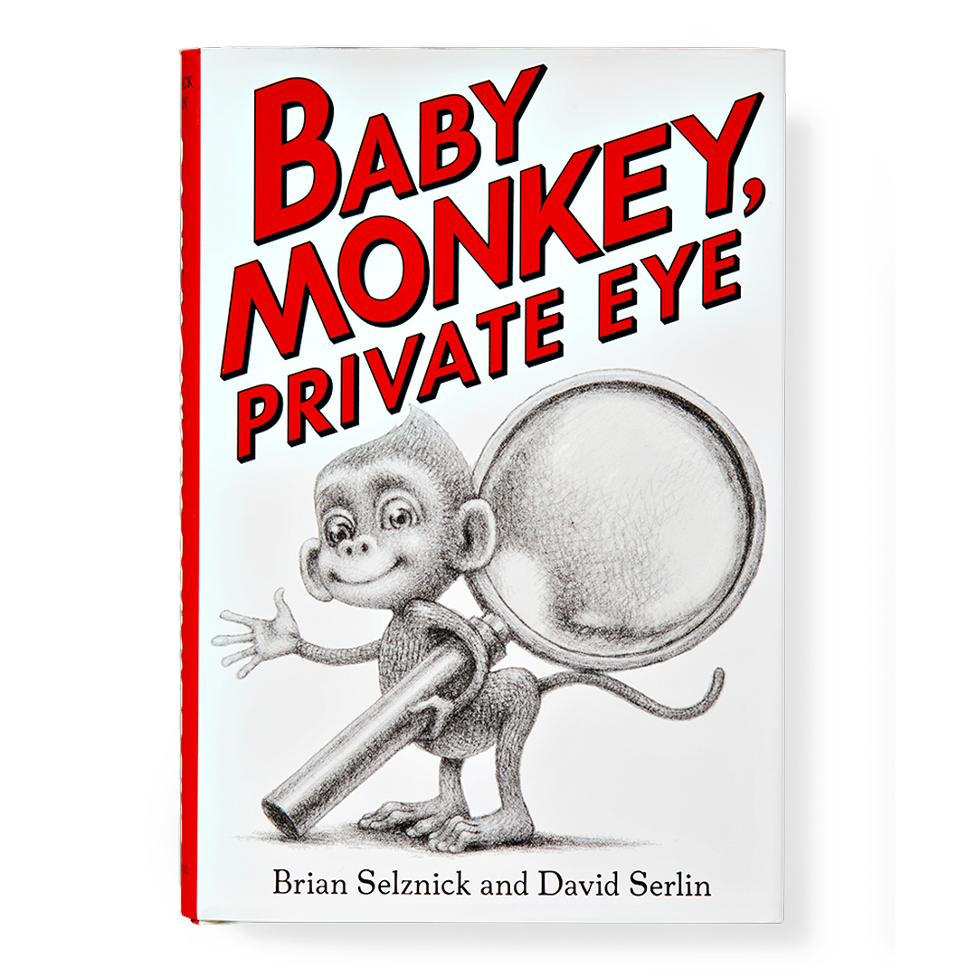 Baby Monkey, Private Eye book monkey with magnifying glass