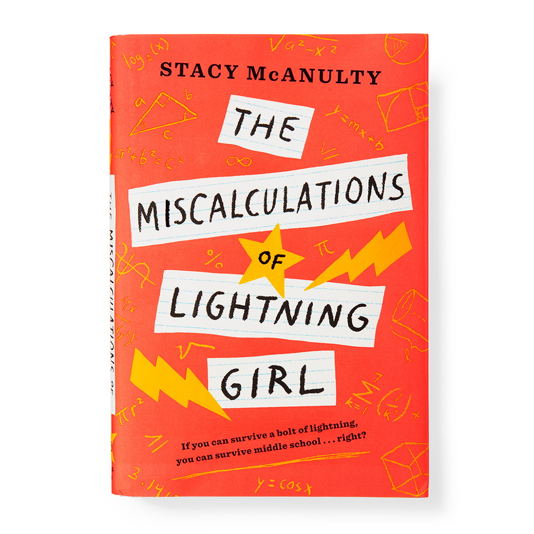 The Miscalculations of Lightning Girl book orange math equations