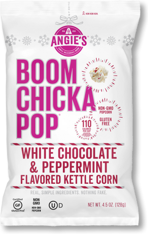 Angie's Boom Chicka Pop White Chocolate Peppermint Flavored Kettle Corn