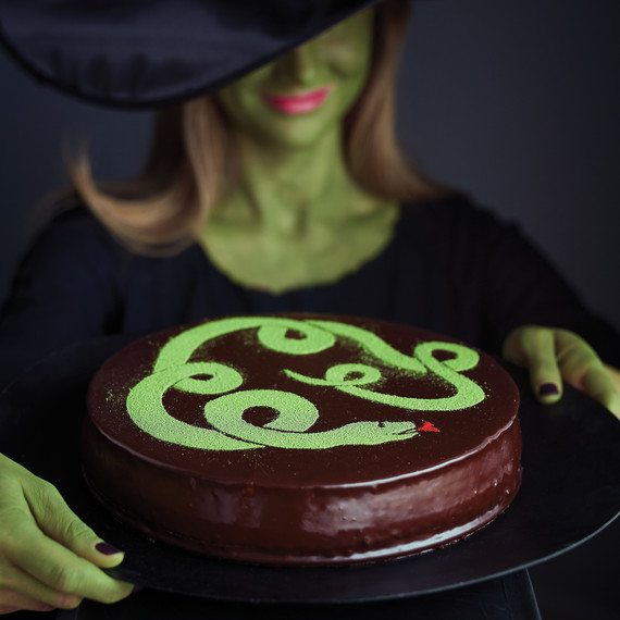 Witch Costume Halloween Snake Cake