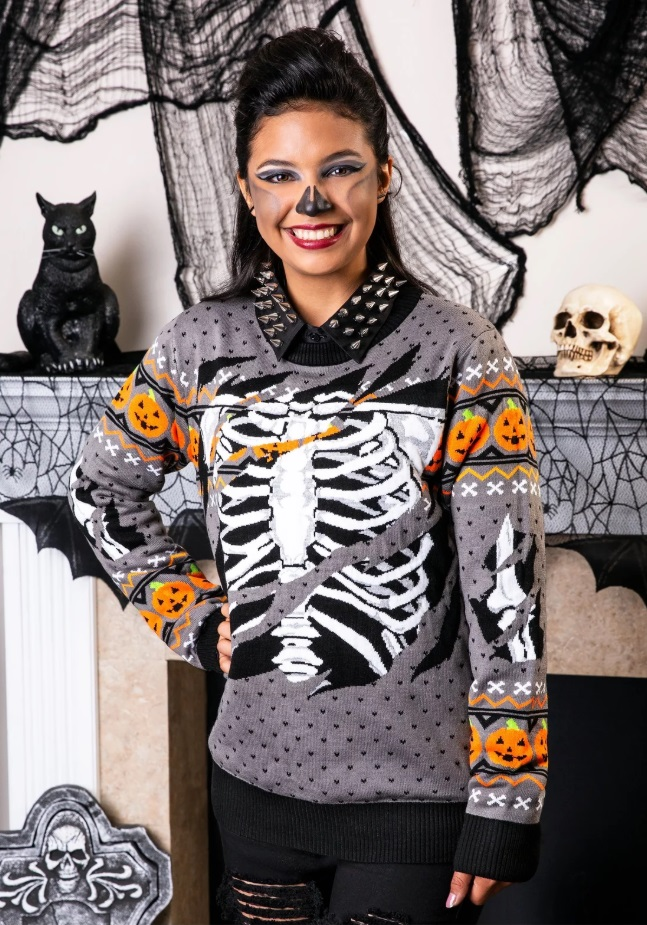 Skeleton pumpkin Sweater