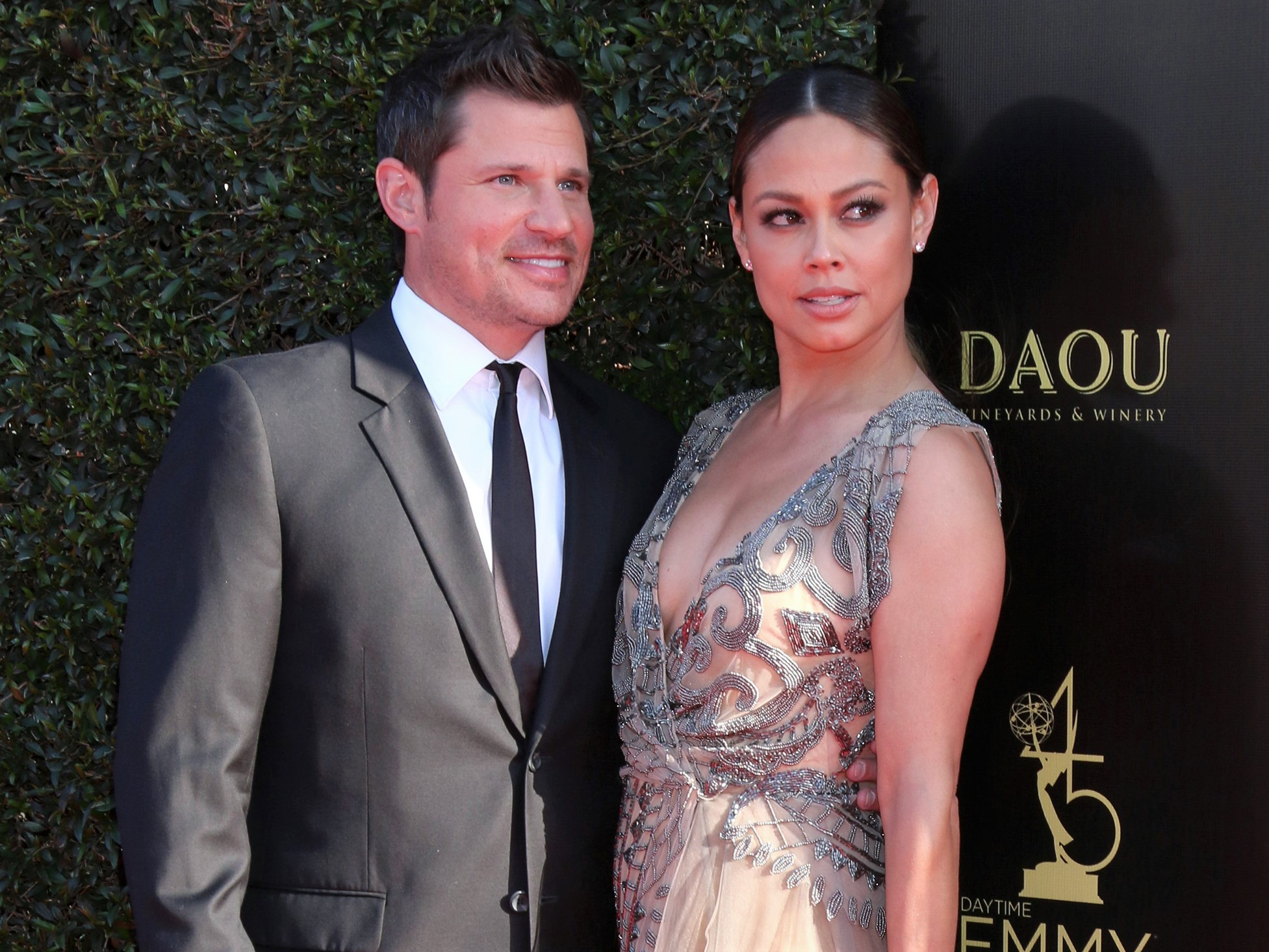 Nick Lachey Suit and Vanessa Lachey Dress