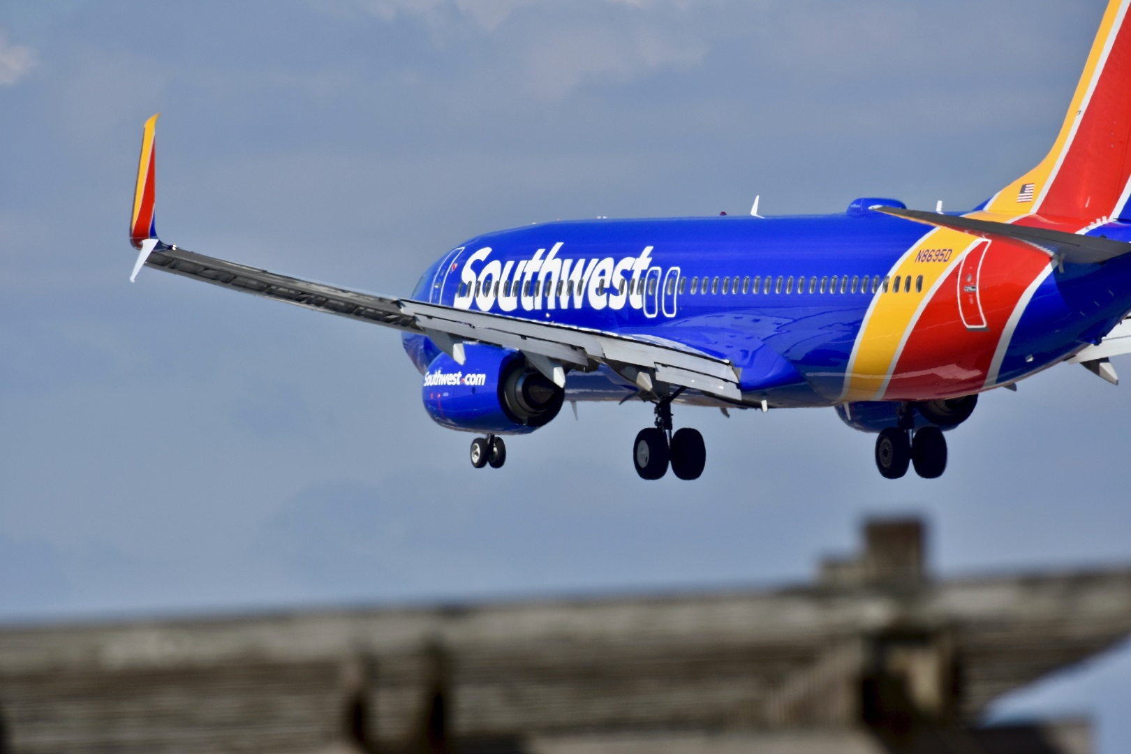 Southwest Airline Plane Flying