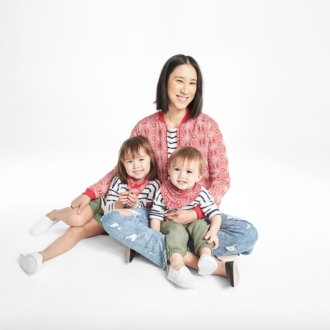 Eva Chen and her children