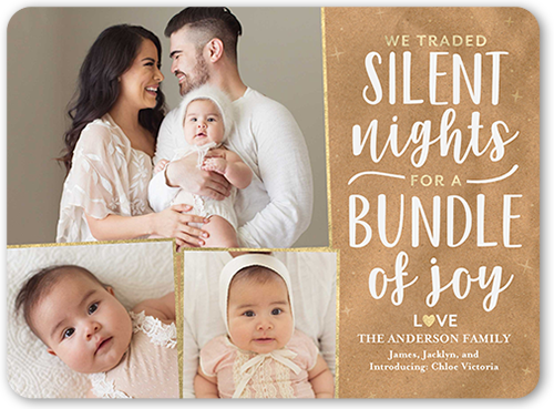 Christmas Card Baby Announcement