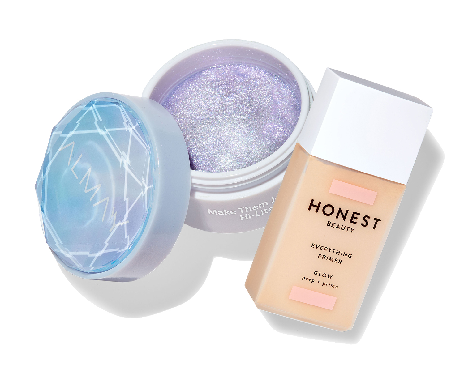 honest beauty everything primer glow and almay make them jelly hi lite in mermaid magic