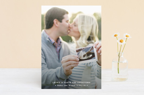 Ultrasound Kiss Pregnancy Announcement Card