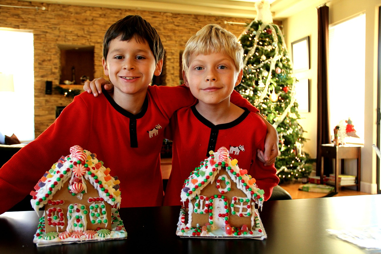 christmas holidays gingerbread house