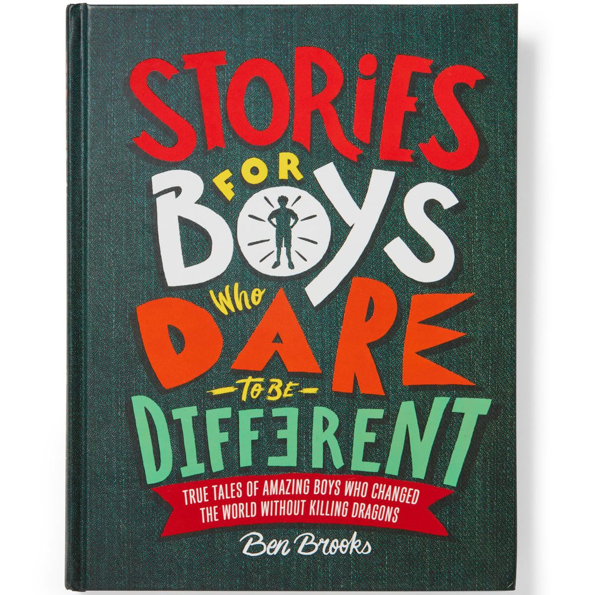 children's illustrated book cover entitled stories for boys who dare to be different