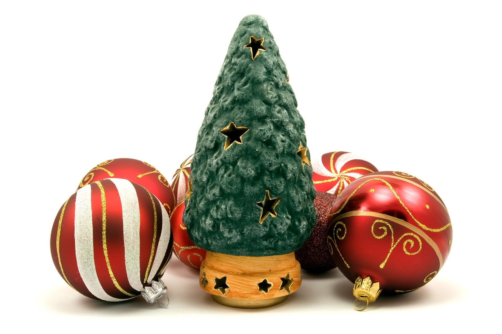 Ceramic Christmas Tree and Ornaments