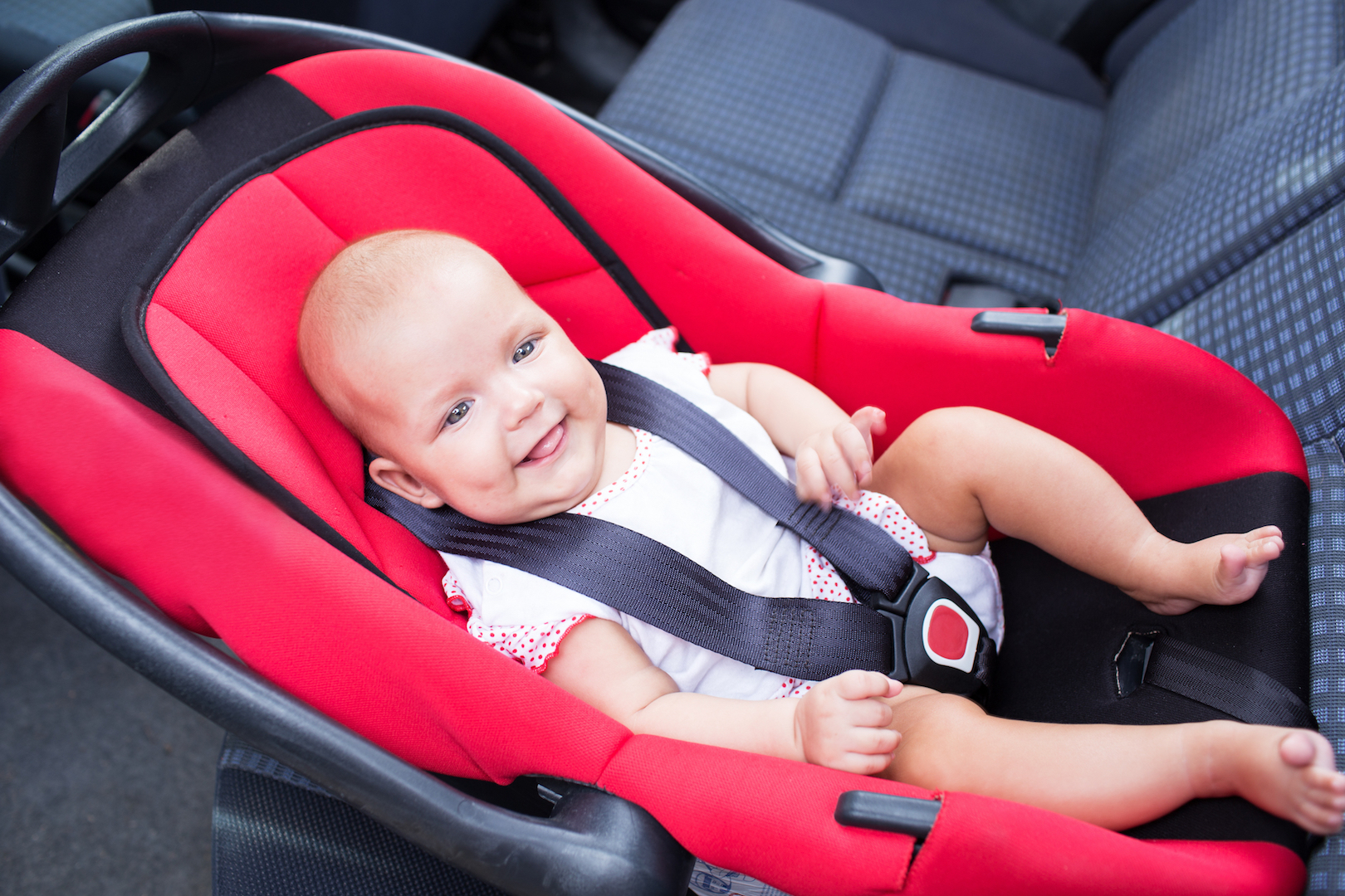 Baby in Rear-Facing Car Seat