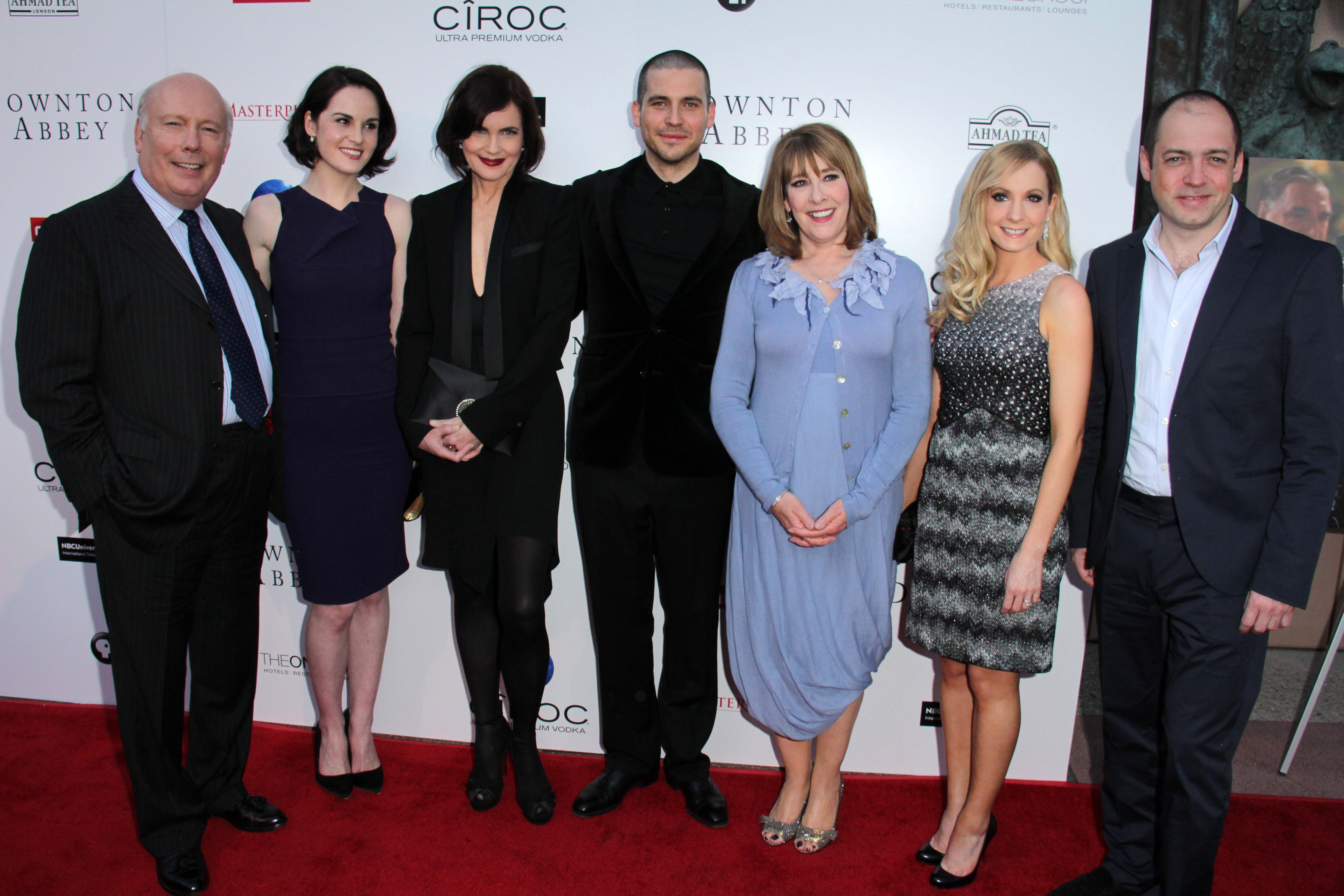 Downton Abbey Cast on Red Carpet