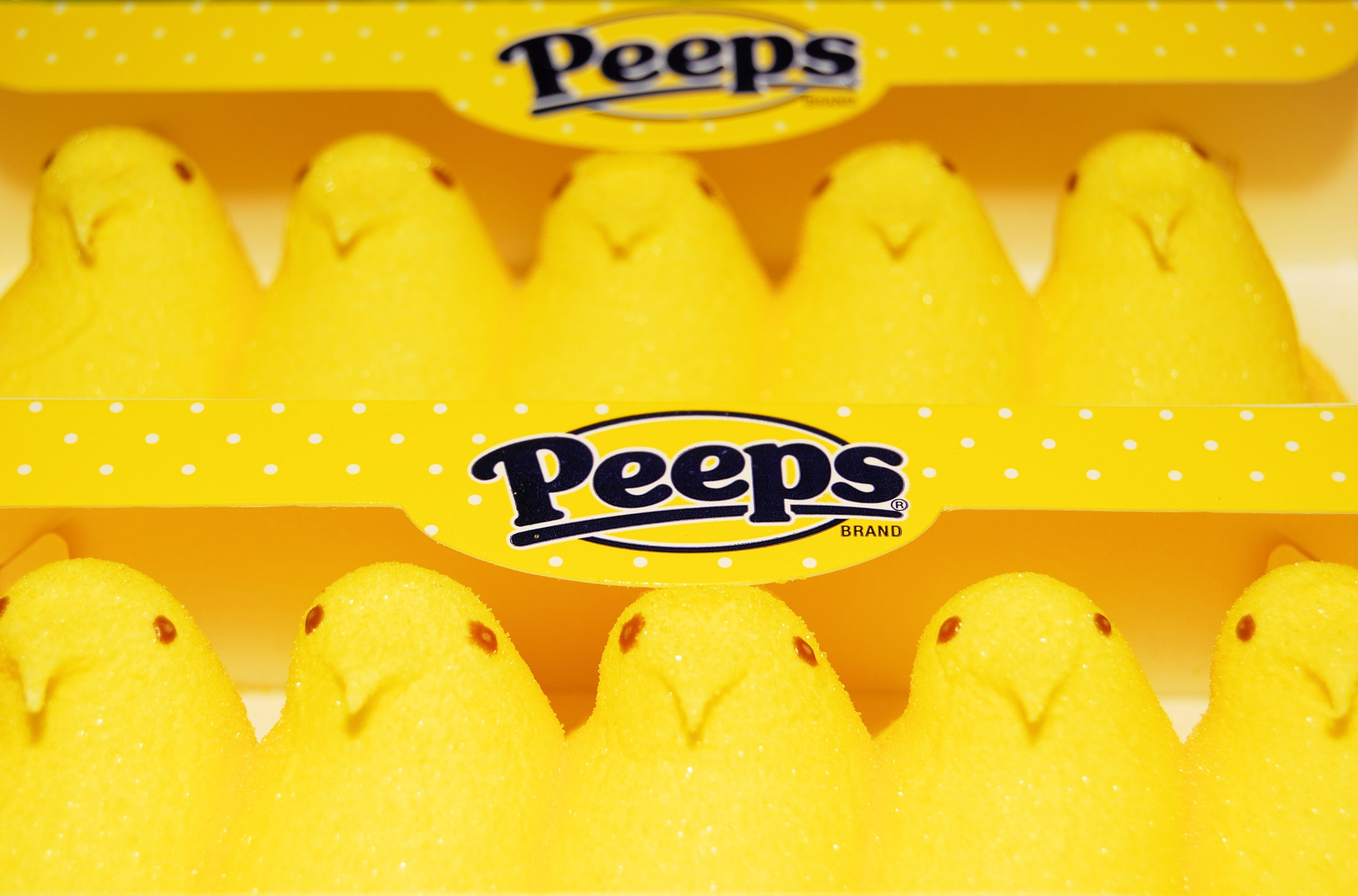 Box of Yellow Peeps Chicks