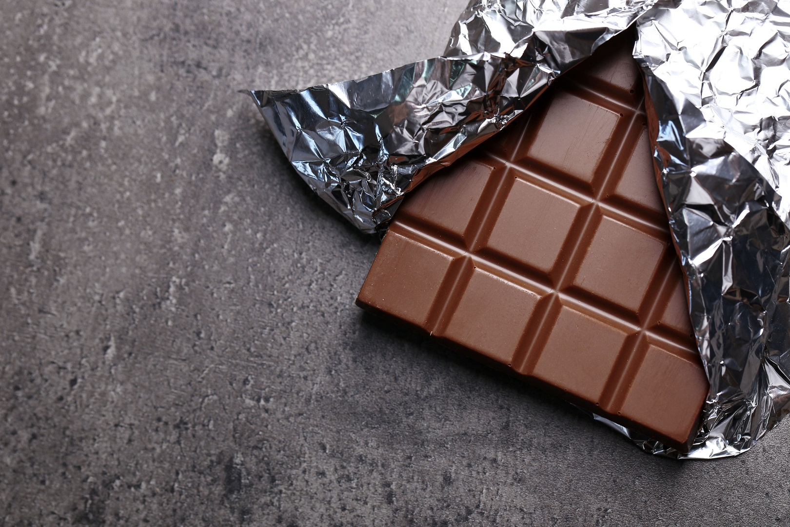Milk Chocolate Bar Wrapped in Foil