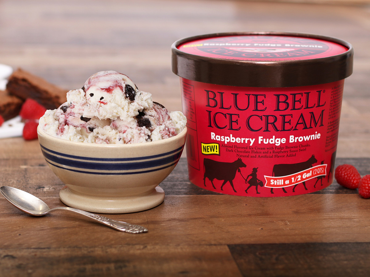 Blue Bell Ice Cream Raspberry Fudge Brownie