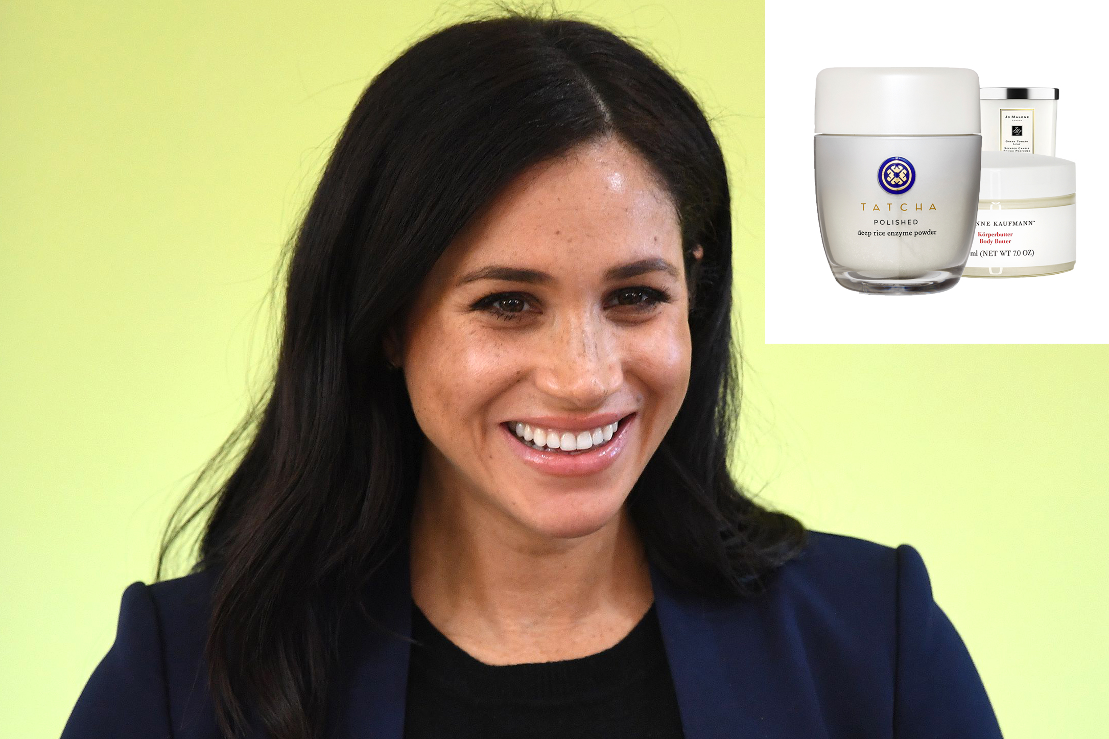 Meghan Markle Green Background Favorite Products