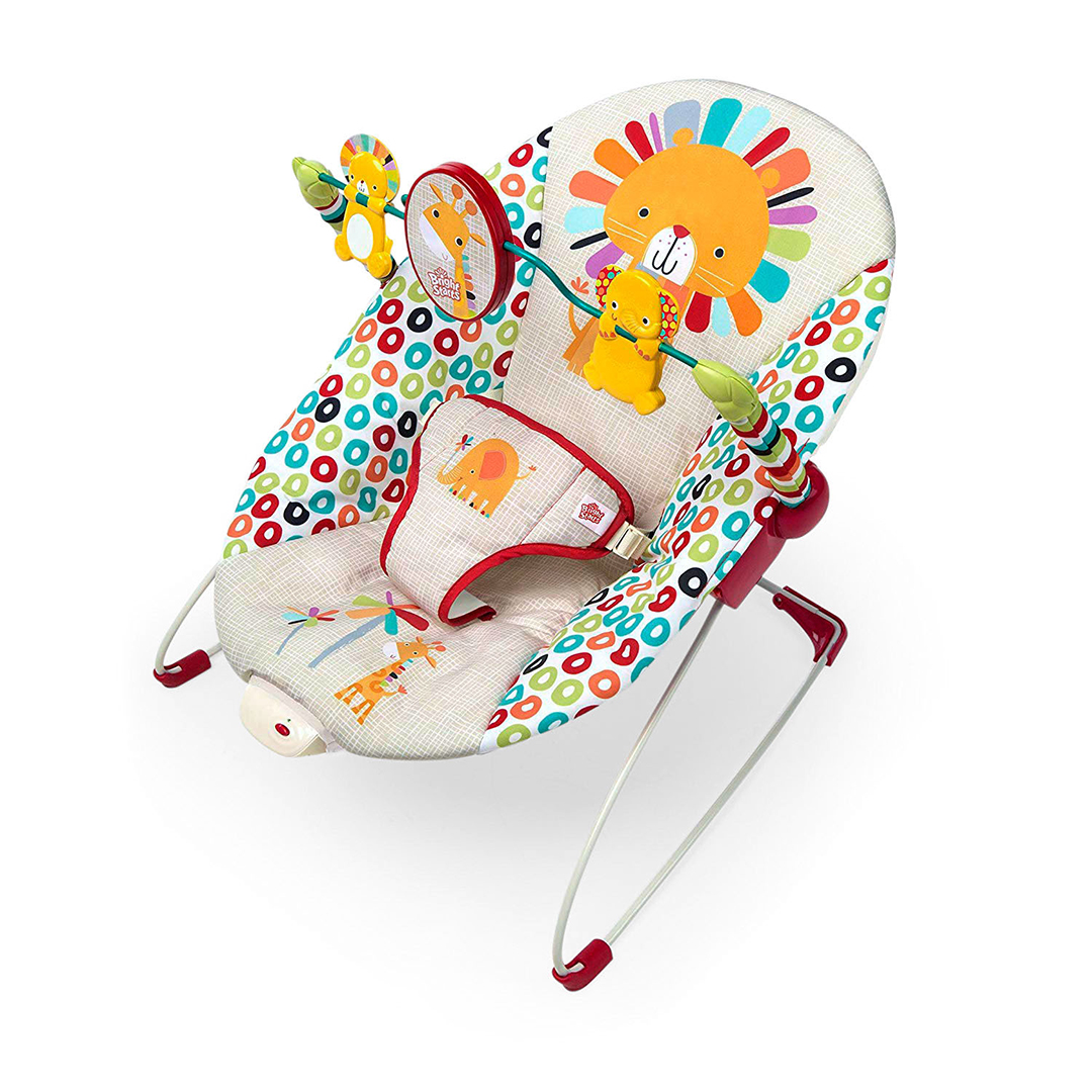 a classic bright starts playful pinwheels bouncer