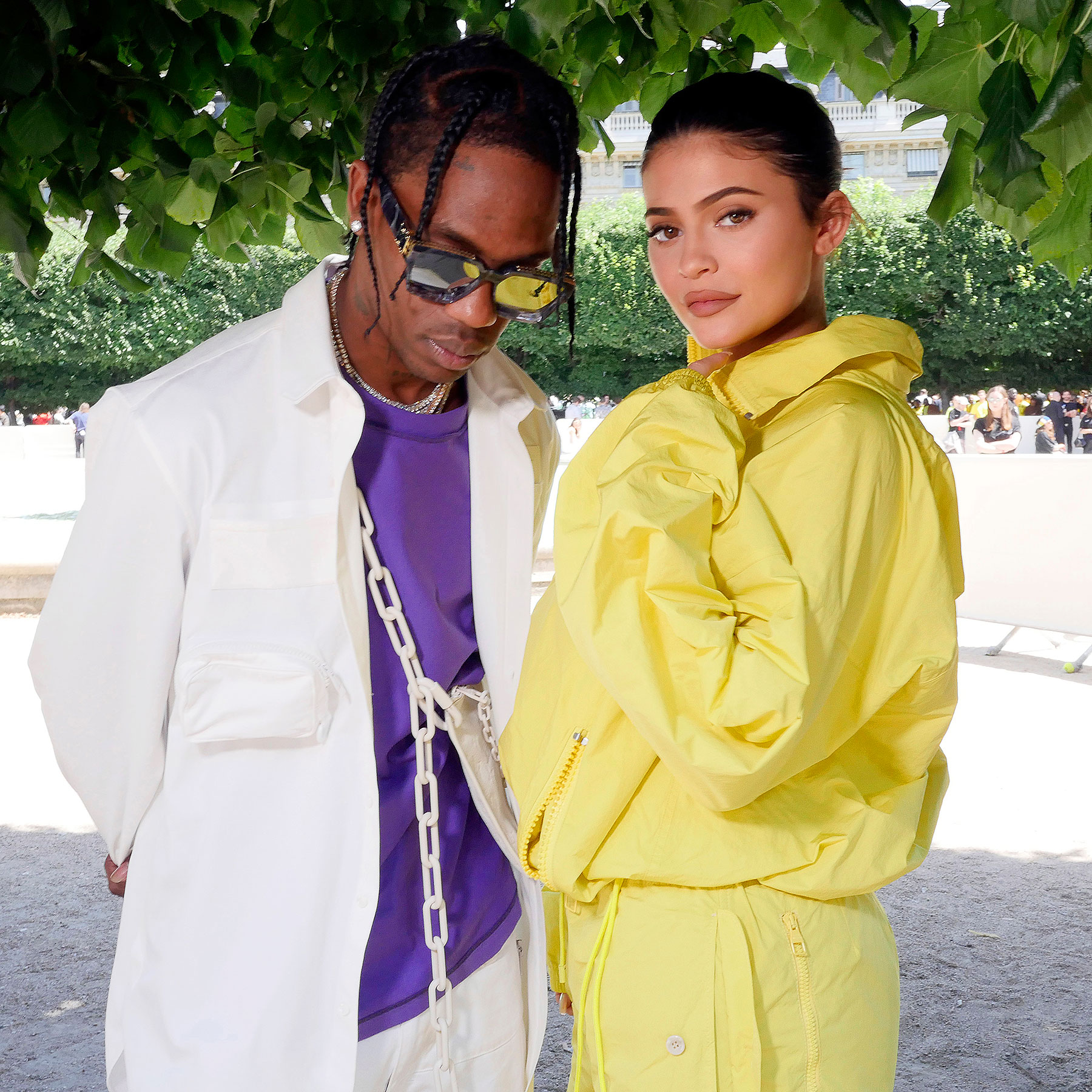 Travis Scott and Kylie Jenner Yellow Tracksuit