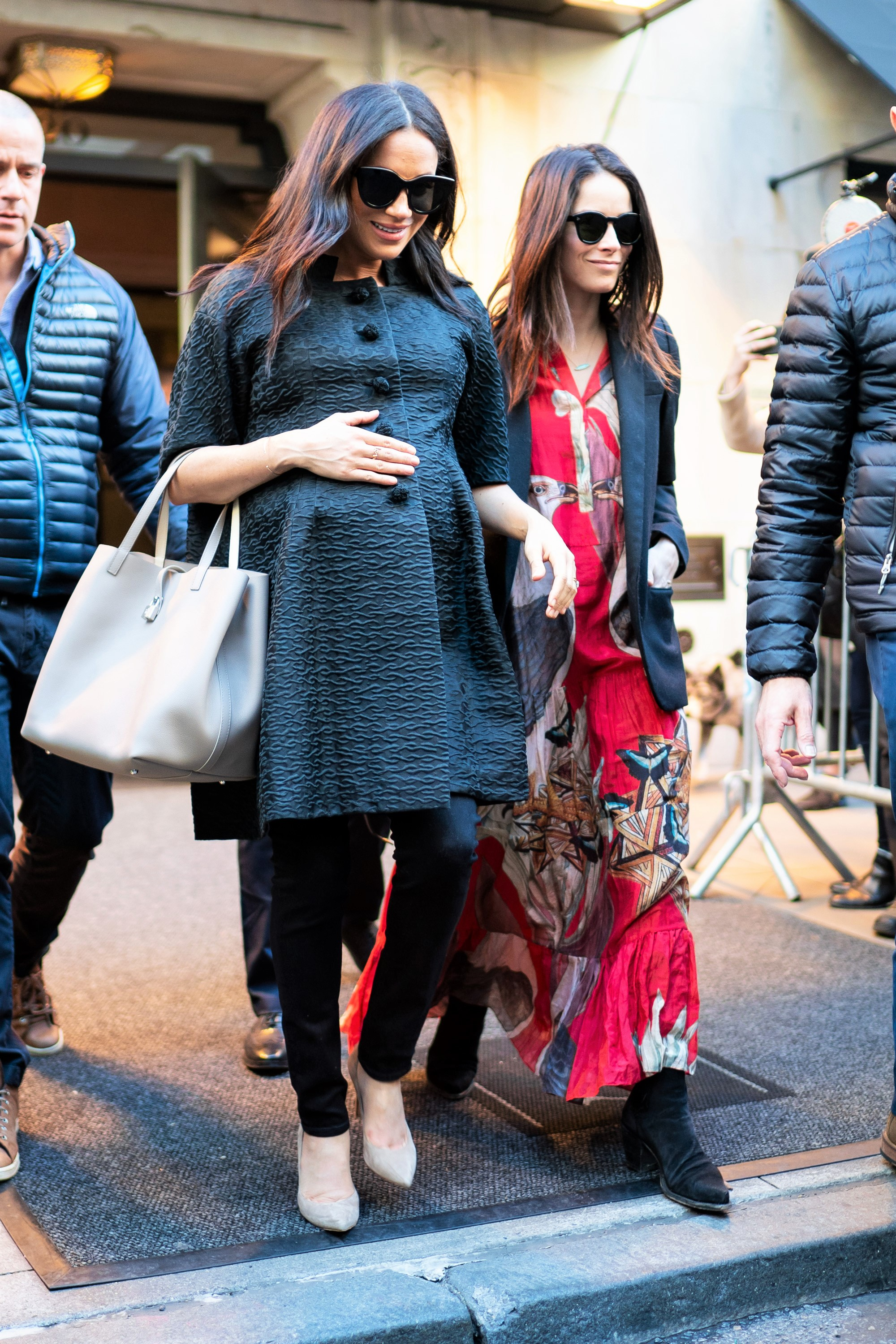 Pregnant Meghan Markle and Abigail Spencer Walk in New York City NYC
