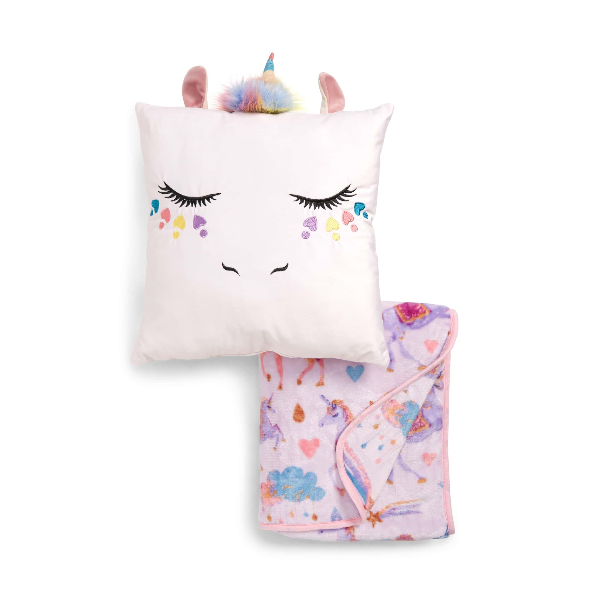 Under One Sky Unicorn Pillow & Blanket Set