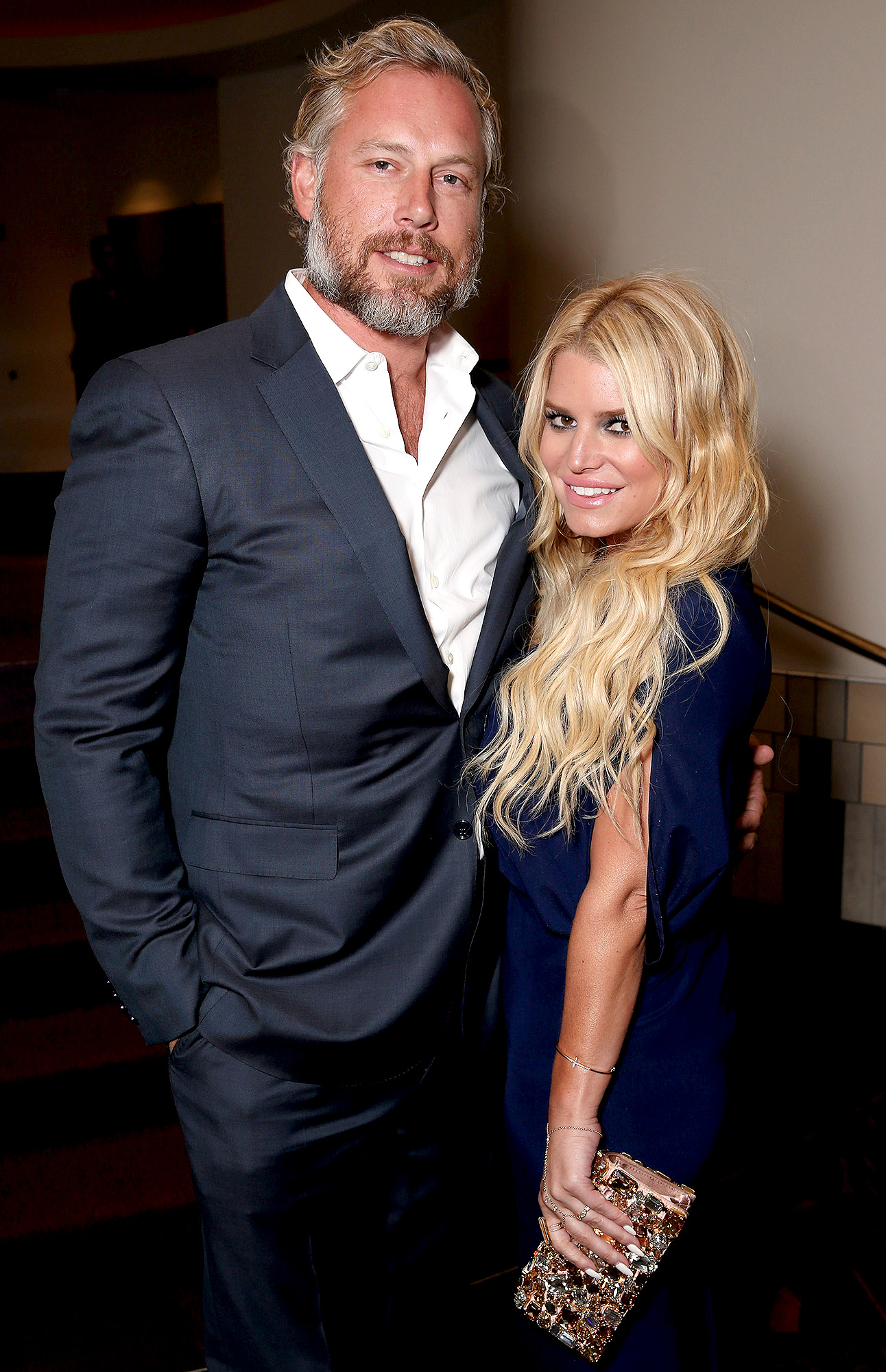Husband Eric Johnson and  Jessica Simpson