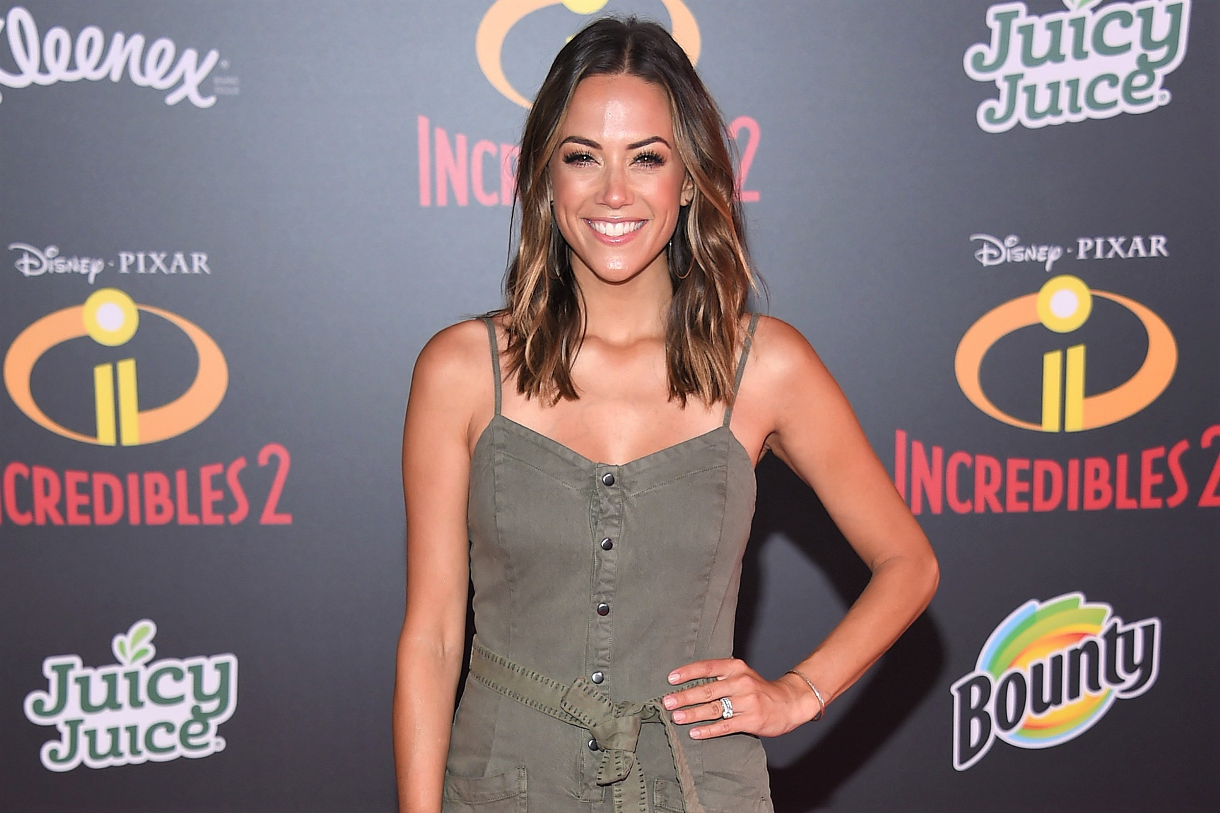 Jana Kramer Olive Green Romper Incredibles 2 Premiere Carpet