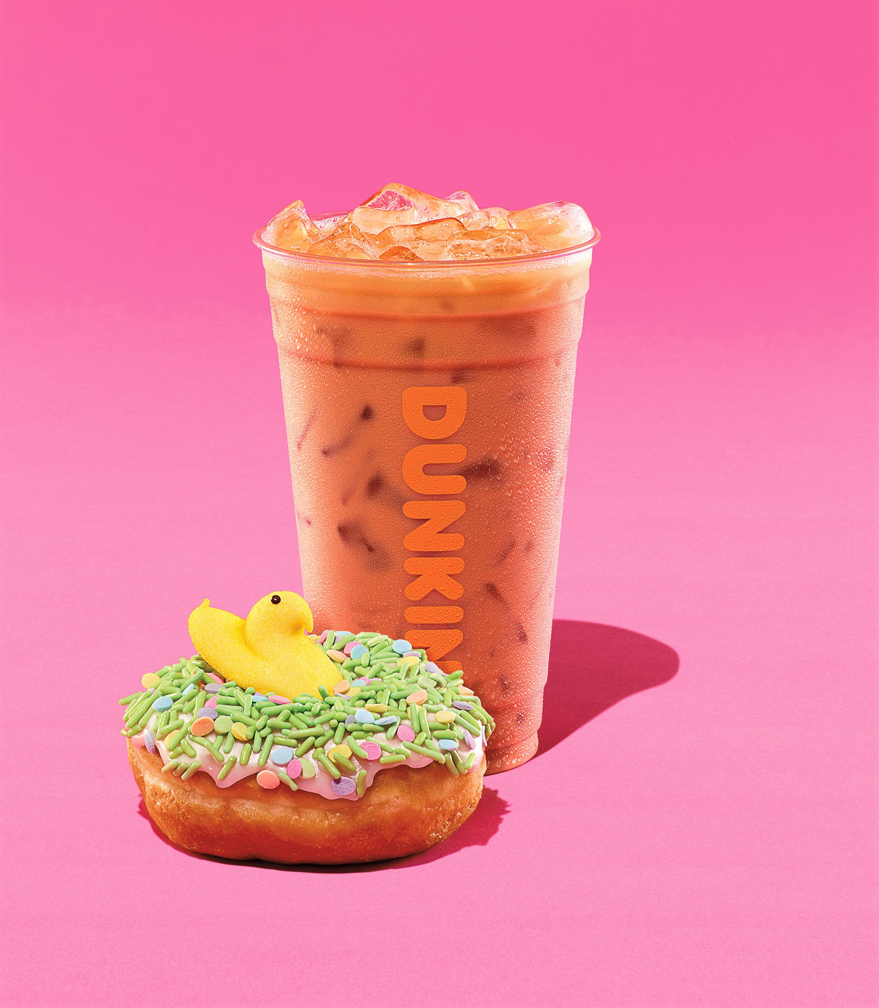 Dunkin Donuts Peeps Special Doughnuts and Coffee