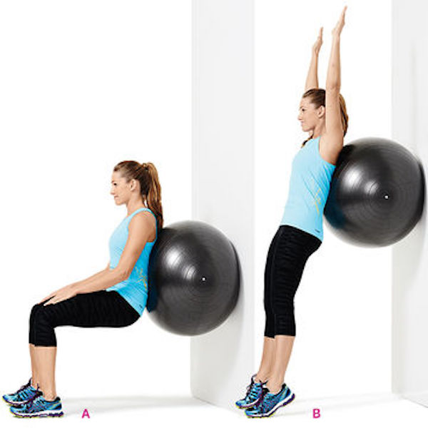 Postpartum Ball Squat
