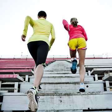women running stairs