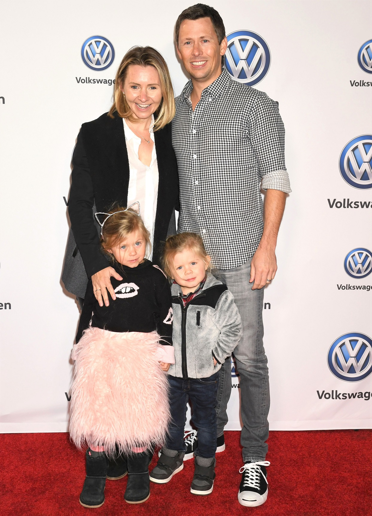 Beverley Mitchell and Family on Red Carpet