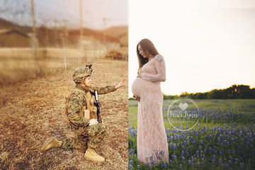 military maternity photo shoot