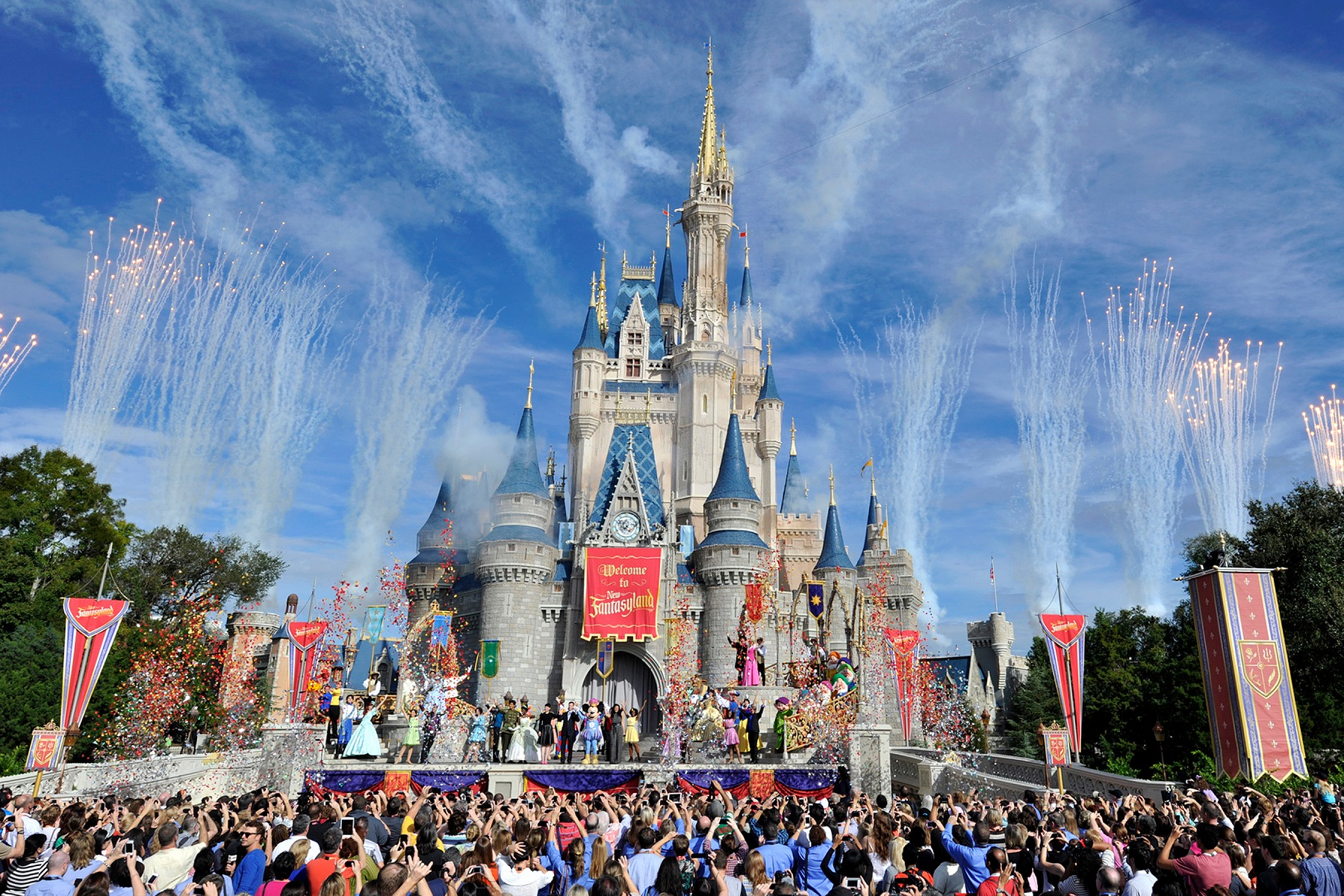 Disney World Castle Day Celebration
