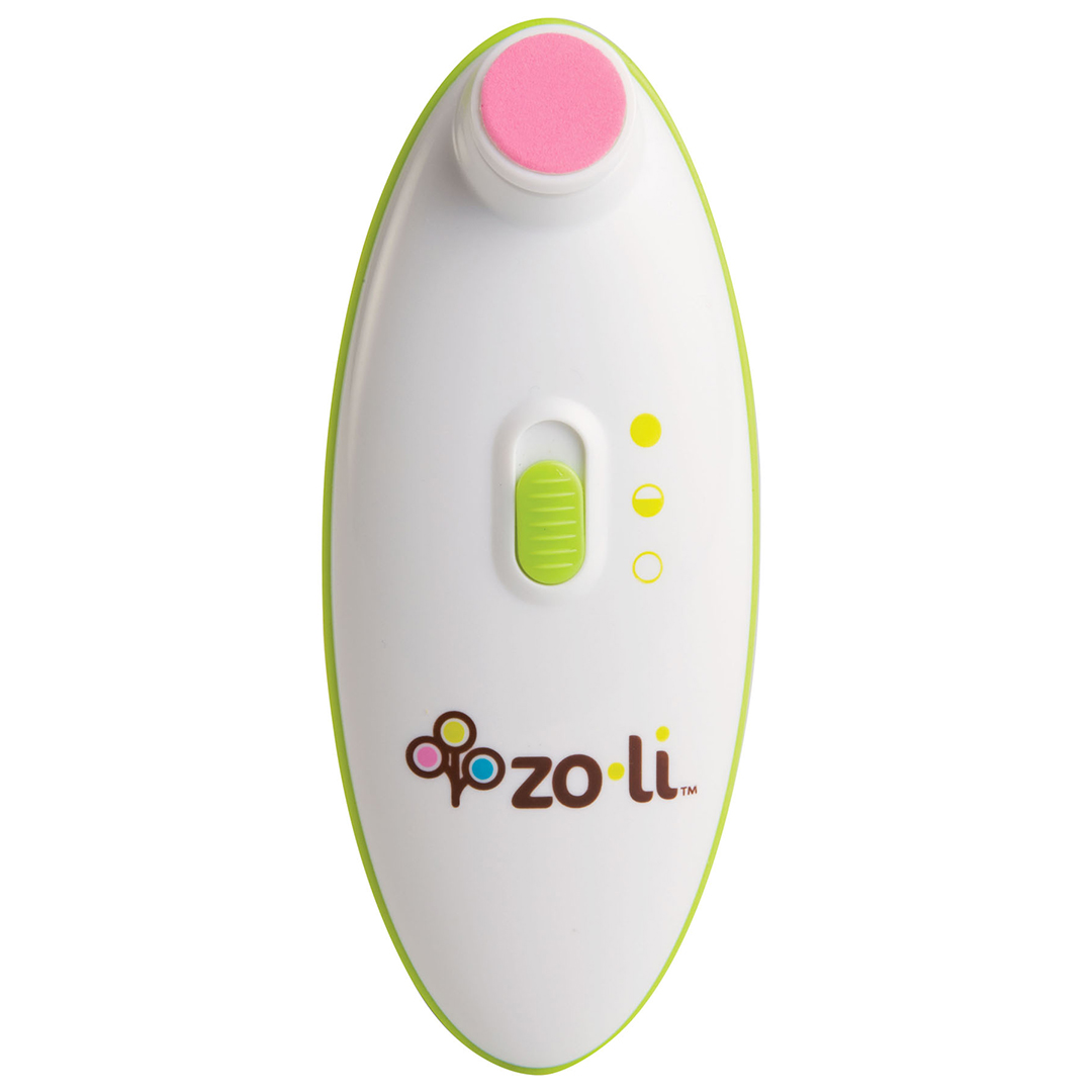 pink and green ZoLi Buzz B Electric Nail Trimmer