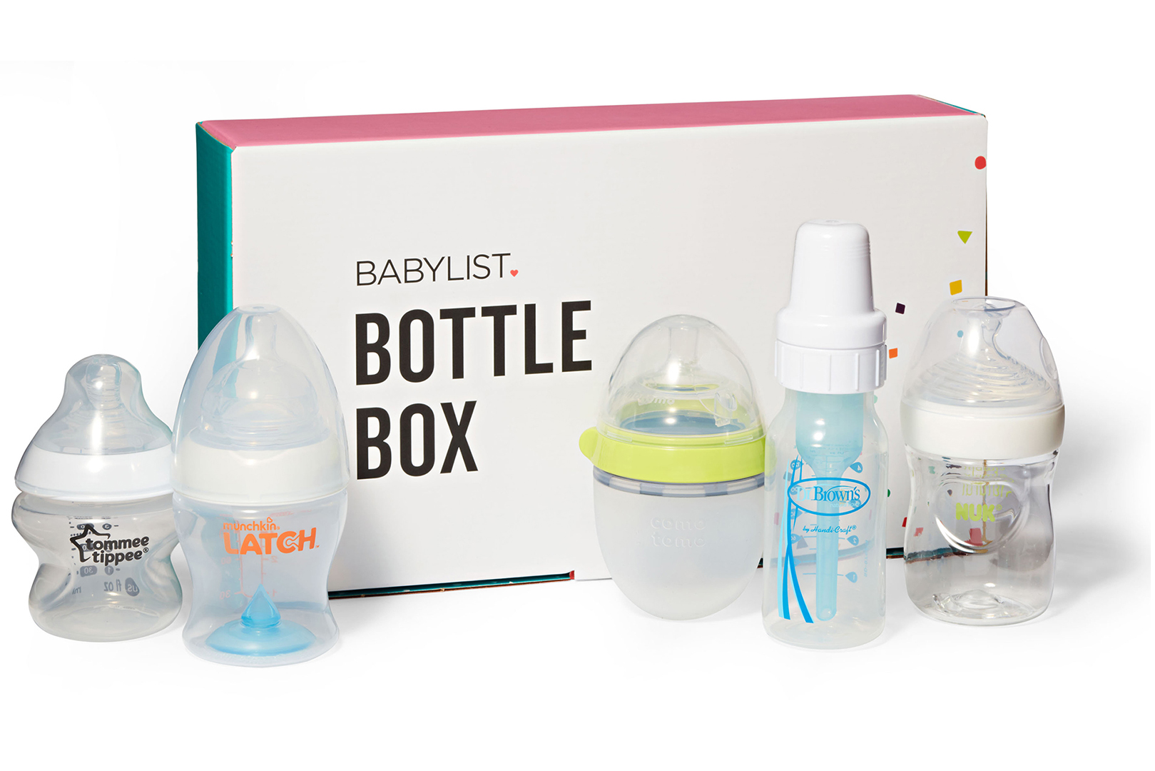 Babylist Bottle Box packaging and included bottles