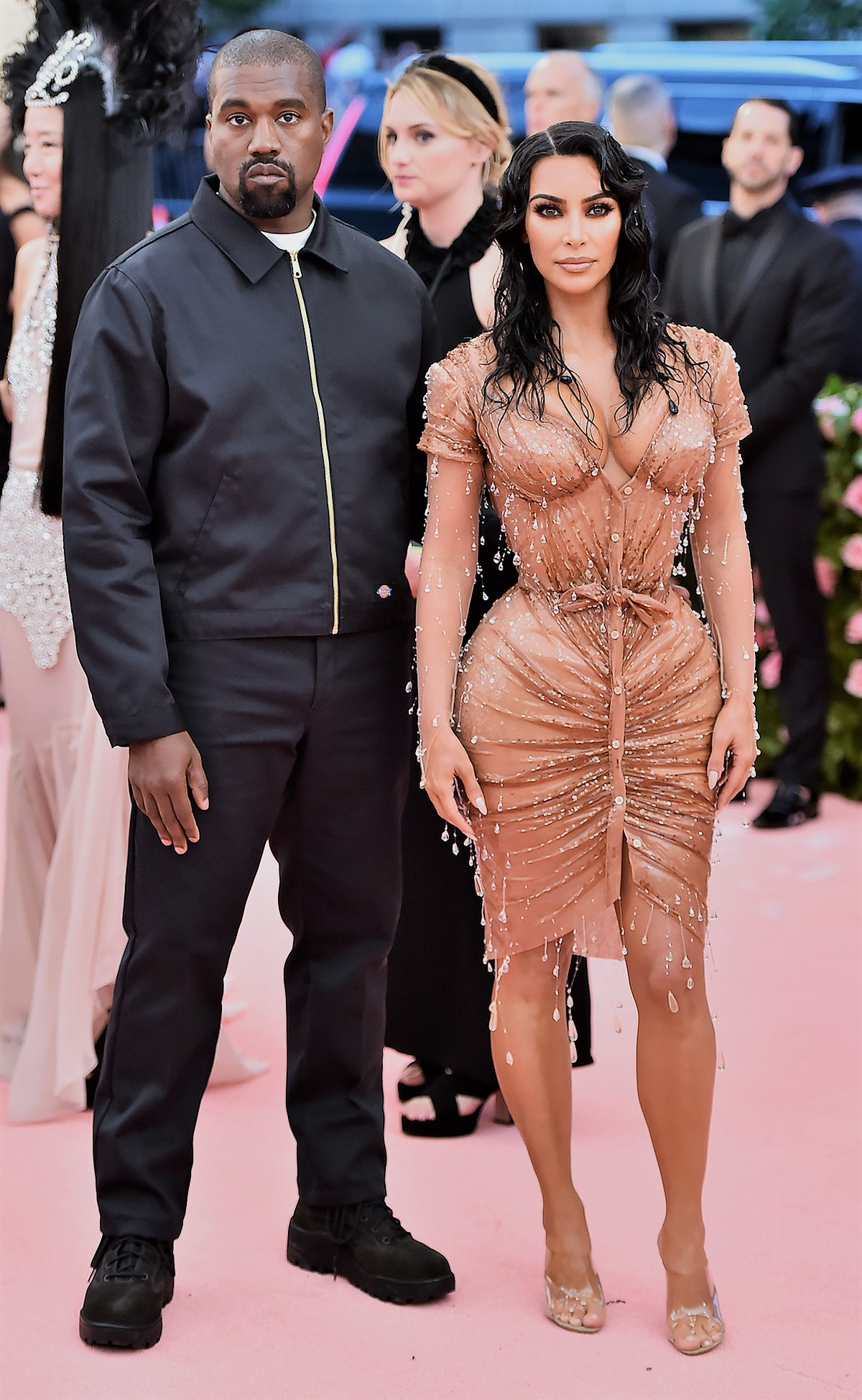 Kanye West and Kim Kardashian at Met Gala 2019