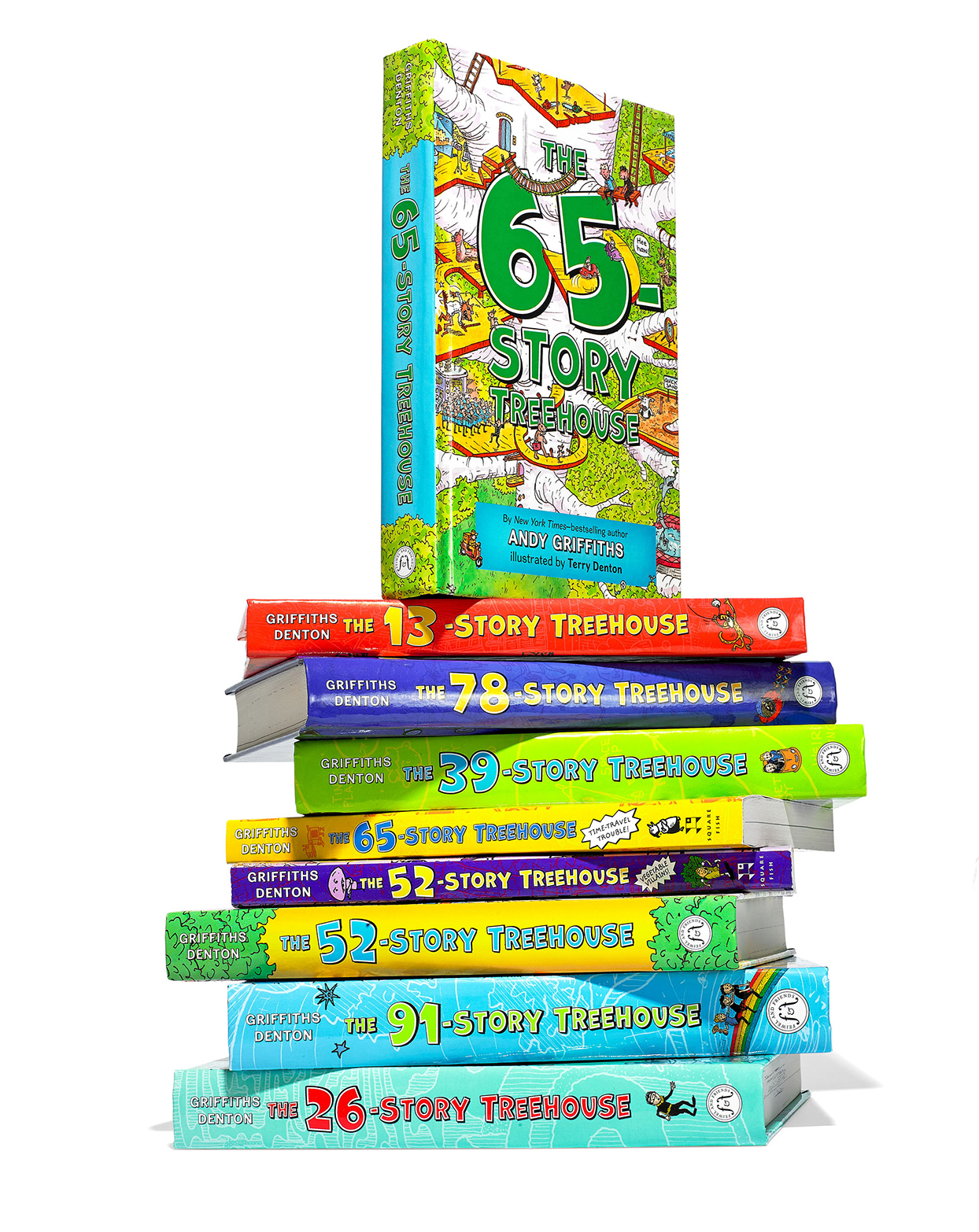 stack of books for kids who love to laugh