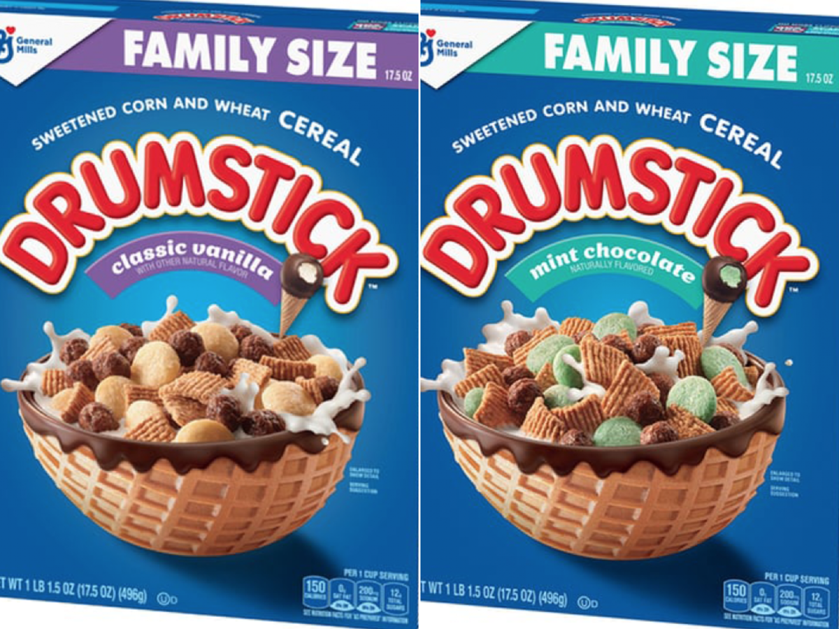 General Mills Drumstick Cereal Classic Vanilla and Mint Chocolate