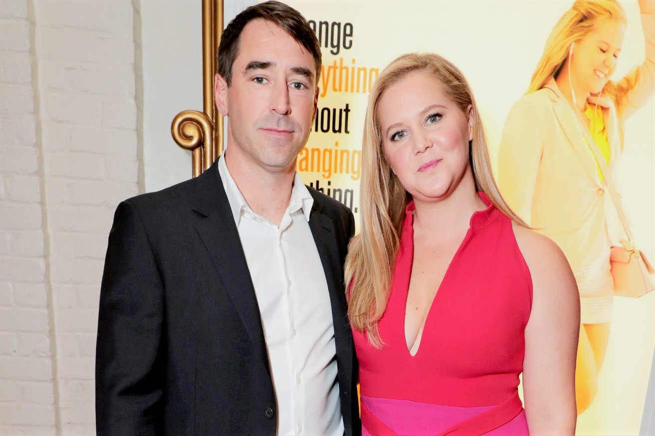 I Feel Pretty Movie Premiere Pink Dress Amy Schumer and Husband Chris Fischer