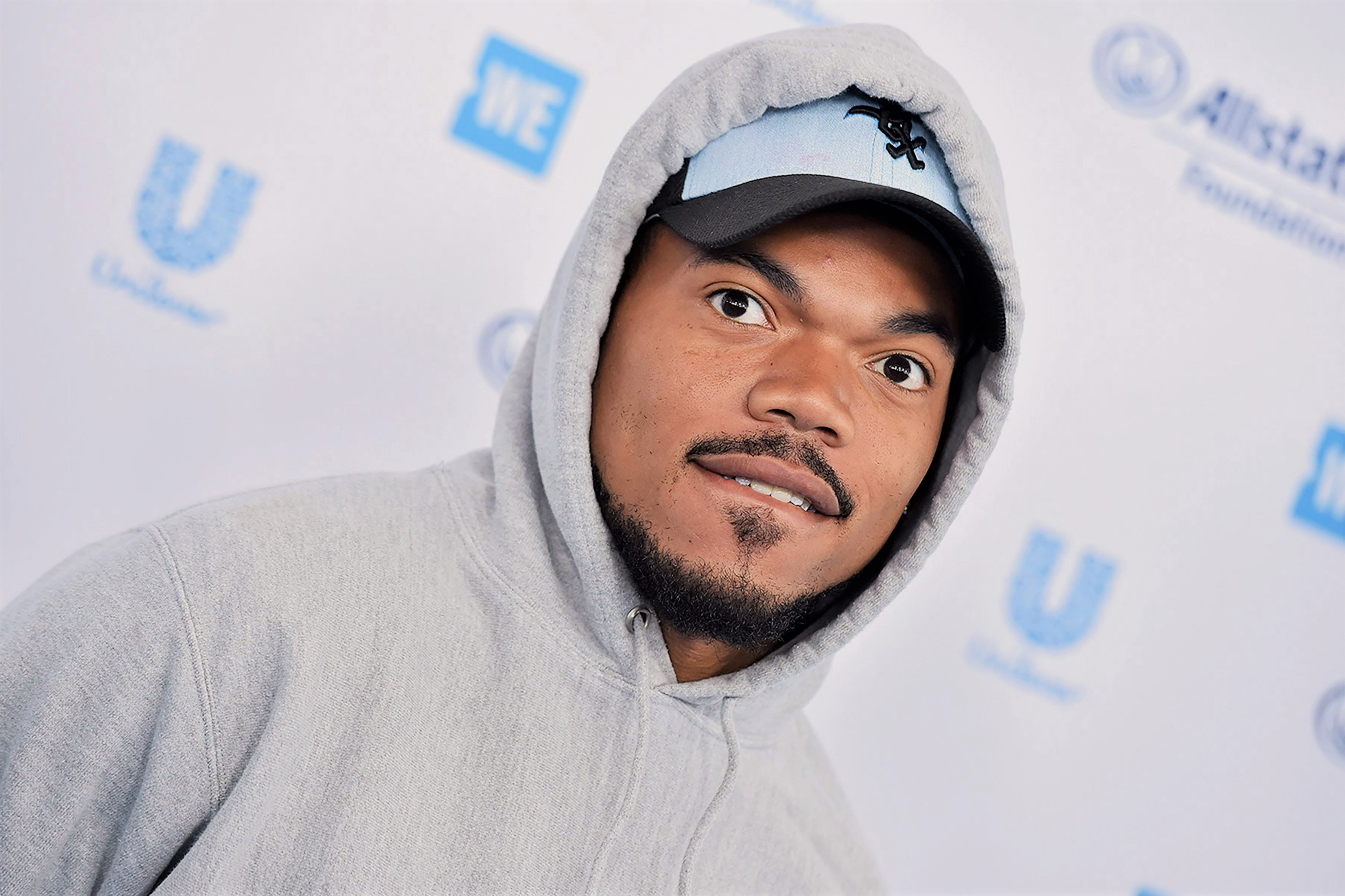 Chance the Rapper in Gray Hoodie