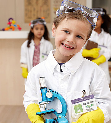 Boy Wearing Science Costume