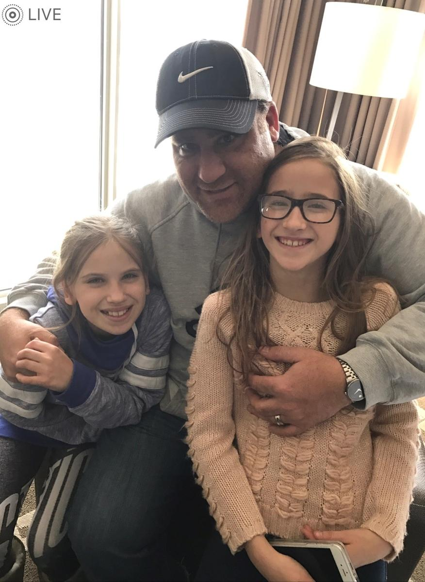 Steve Haddad and his Daughters