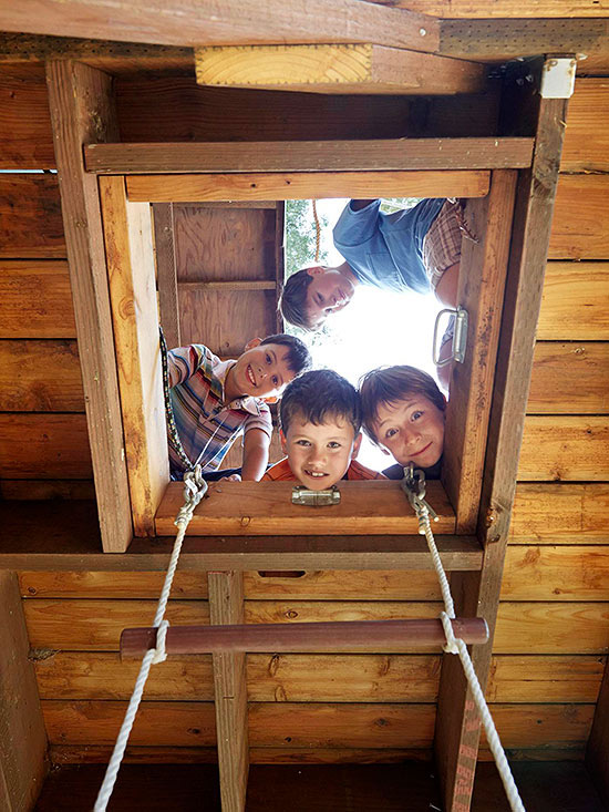 Kids in treehouse